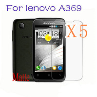 Retail Packing Hot Sale 5x Matte Anti Glare Screen Protectors LCD FILM GUARD FOR lenovo A369i A369 Send With Tracking