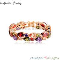 2014 fahioin brand cc jewelry handmade kpop relogio one direction pulseira real gold plating AAA CZ zircon bracelet for women