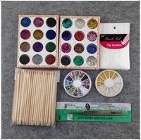 16Pcs/Set UV Gel Nail Art Glitter Acrylic Powder DIY Manicure Kit  + Free Shipping