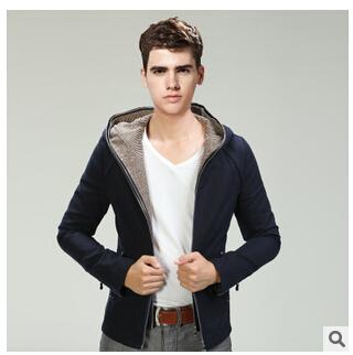 Men's new winter jacket zipper hooded men burst models men thin coat jacket casual menswear wholesale clearance processing(China (Mainland))