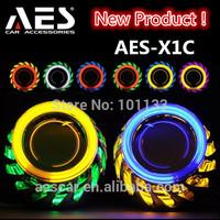 2.5 inch  AES-X1C HID h4 bi-xenon headlight projector, for auto h1 bulb socket