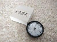 5pcs/lot Quality Importers Analog Hygrometer, 1-3/4-Inch Round Glass Analog Hygrometer for Humidors Black Plasitic