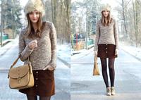 2014 Vogue men women winter hat fur,women's Faux Fox Fur hat Russian Style,outdoor Warm Hats fur Caps With Fur