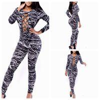 2015 Print sexy laser bandage jumpsuits bodysuit women macacao feminino yh6014