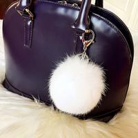 2014F car keys, wallet bag phone accessories female fox fur rabbit fur ball keychain chain jewelry free shipping