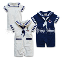 Child mariner's scarf modelling ha clothes, baby climb clothes cotton jumpsuits