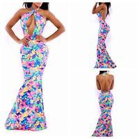 Long Sexy Club Dress 2015New Sleeveless Bodycon Dresses  Elegant swallowtail Women Party Bandage Dresses Free shipping