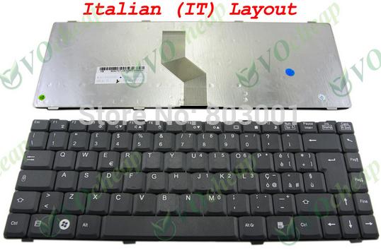 QWERTY Hot sale laptop computer keyboard for Fujitsu Li1718 Li1720 Li2720 Li2727 Uk-IT Italy Layout(China (Mainland))