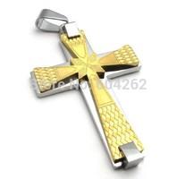 Wholesale + retail , 316L Stainless Steel men's cross Pendant Necklace 10021901(074096)