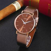 Brand Sinobi Leather Watch Men Quartz Watch Dress Watch Clock For Man Casual Wristwatch Waterproof Relogio Masculino AB031