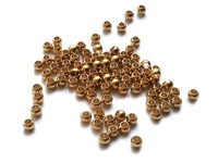 3.5x2.8mm w/hole raw Free Shipping Solid Brass Ball Beads