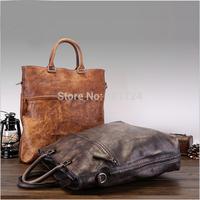 2014 Rushed Zipper Handbags Men Messenger Handmade  Bags Big Promotion Genuine Kangaroo Leather Shoulder Bag Man Briefcase