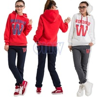 New 2015 sport sweater tracksuits spring&autumn season high quailty letter sport suit women sweatshirt hoody 2pcs/set hoodies