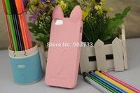 For iphone 5 5G 5S case, Fashion 3D koko cute Ear Cat Case For IPhone5 5S phone cases, Ear can Open the screen, free shipping