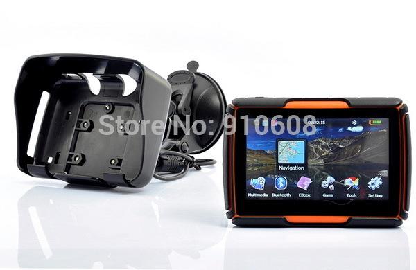 Motorcycle GPS navigation 4.3 inch/moto gps waterproof navigator with 2014 newest free maps(China (Mainland))