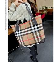 New winter female bag handbag fashion  single shoulder bag canvas grid inclined shoulder bag