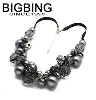 BigBing fashion jewelry Black white beads necklace chain necklace fashion choker Necklace wholesale jewelry K352