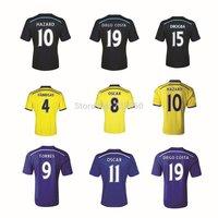Chelsea Jersey 14/15 Soccer Jerseys DIEGO COSTA FABREGAS camisa Camiseta Chelsea 2015 Hazard futball