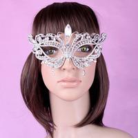Hot Sale Masquerade Party Masks Rhinestones Alloy crown Diamond mask 6Pcs/Lot Free Shipping