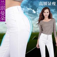 Plus Size 26-32 High Waist Jeans Pencil Pants Fashion Skinny Jeans Tights Leggings Denim Jeans Woman Jeans Leggings