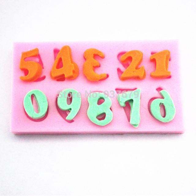 Aliexpress.com: Comprar 0 9 número mini shower nacimiento moldes ...