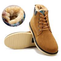 Hot sale 2014 new casual fashion warm men boots winter fur men snow boots vintage men flats shoes male Oxford martin boots