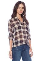 New France real silk Equipment lady plaid blouse women elegant EQ silk long sleeve shirt