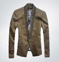 Men's 2015 spring new printing Slim Korean casual men's D2 brand suit jacket  male DSQ  blazer