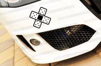 Cross-type bandage hollow JDM style reflective car stickers
