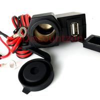 Motorcycle 12V/24V to 5V USB Charger/Car Cigarette Lighter socket Power Adapter