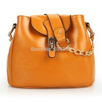 2015  genuine leather handbag  chain inclined shoulder bag shoulder bag women handbag
