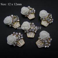 10pcs Cupcake nail art jewelry 3d nail charms DIY arts and crafts new nail decorations AM39