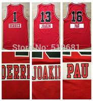 2015 Chrismas game Basketball jersey chicago #16 PAU #1 DERRICK #13 JOAKIM men red jerseys Size S-XXL,Drop shipping