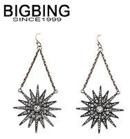 BigBing  jewelry fashion clear star crystal earrings earrings dangle earring good quality  nickel free Q688