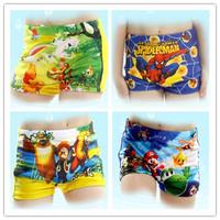 2014 New Summer Swim wear Trunks Cartoon Baby Kid Child Boy Swimming Spiderman cartoons Costume