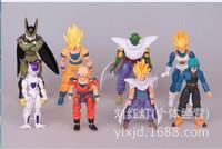 Dragon Ball Z PVC Figure Loose 8 pcs set oy Cartoon & Anime GOKU VEGETA Cell Freeza piccolo
