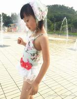 Children'S Bathing Suits Summer Girls Floral Lace Tutu Swimwear Kid Flower Fashion Beach Supplies Swimsuit A163