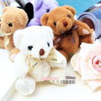 8pcs/lot  plush teddy  bear doll  for gift box   cartoon bear  kid boys  mixed color
