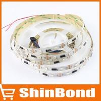 5M 32Leds/m Digital LPD8806 RGB Led Strip Light Non-waterproof ,1IC Control 2leds, Addressable Ribbon Lamp DC 5V Input