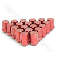 Red Color, RAYS Volk Racing Wheel Nuts / Wheel Screws Anti-theft Lock Nuts Lug Nuts Duralumin Length 35MM M12 X 1.5