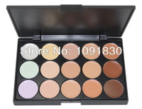 Alvin`sNew 2014 Hot Sale Special Professional 15 Concealer Facial Care Camouflage Makeup Palette Free Shipping
