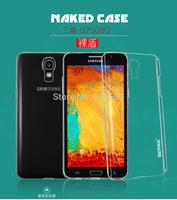 10pcs BEPAK Naked series matte hard cover for samsung Galaxy Mega 2 G7508Q transparency Crystal case + Retail box Free shipping