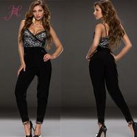 2014 High Quality Women Sexy Jumpsuits Closefitting Lace Bodice Desigual Jumpsuits