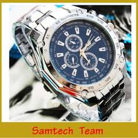 ORLANDO Men Sports Watch Quartz Black Blue White Face Color Luxury Watches Men Full Steel Watch Male Wristwatch