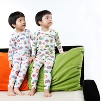 Fashion US Flag Children Clothing Boy Pajamas Set Size 100-140 cm Cute Style Kids Cotton Tops + Pants Drop Shipping