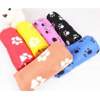 1PC New Cute Soft Warm Towel Paw Prints Pet Puppy Dog Cat Fleece Blanket Mat 60x70cm Pets Supplies