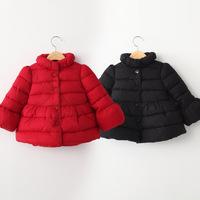 2014 winter flare sleeve female child children's clothing child thickening wadded jacket cotton-padded jacket outerwear wt-4173