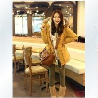 Plus size clothing 2014 winter wadded jacket fashion woolen thick women coat parkas XL_4XL