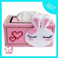 DIY Three-dimensional embroidery 3d cross stitch new arrival derlook handmade rabbit pumping tissue box