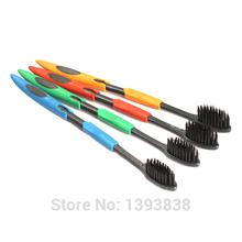 4PCS Double Ultra Soft Toothbrush Teeth Brush Bamboo Charcoal Nano Oral Care Set(China (Mainland))